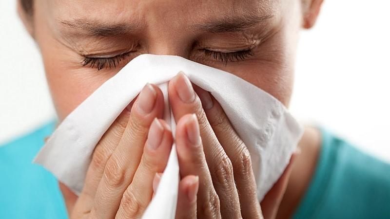 Проявление сезонной аллергии